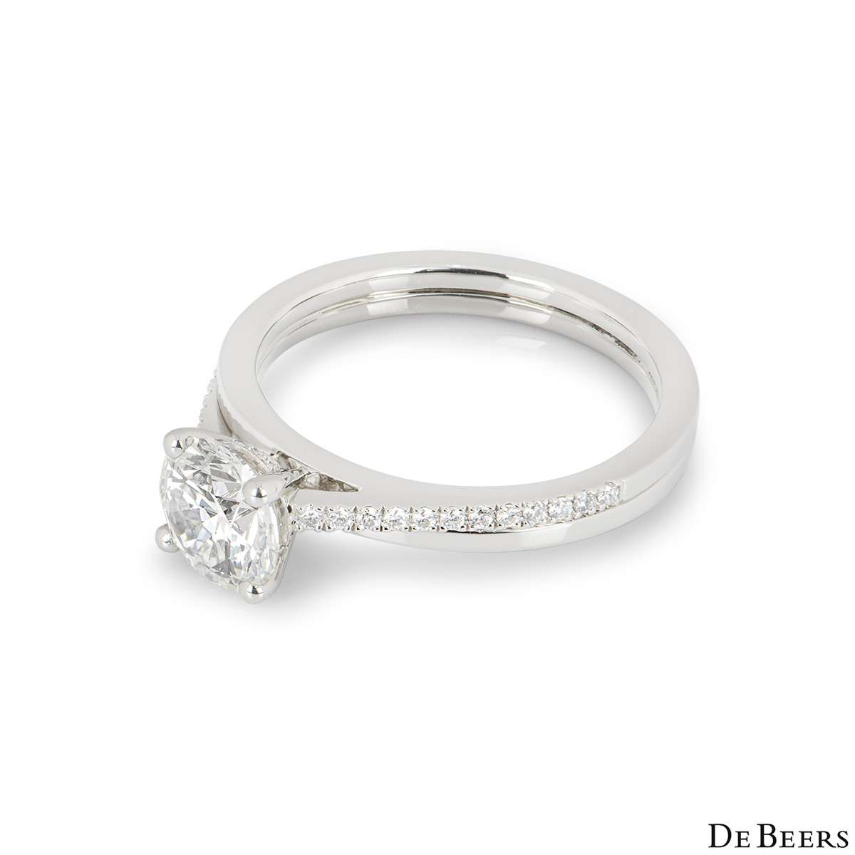 De Beers Platinum The Promise Ring 1.14ct F/IF